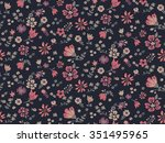 trendy seamless floral pattern... | Shutterstock .eps vector #351495965