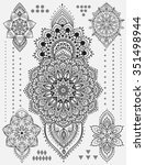 mandala set and other elements. ... | Shutterstock .eps vector #351498944