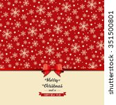 vintage merry christmas and... | Shutterstock .eps vector #351500801