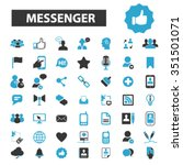 messenger connect ... | Shutterstock .eps vector #351501071