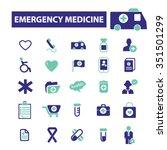 emergency medicine  icons ...   Shutterstock .eps vector #351501299