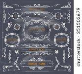 set of vintage decorations... | Shutterstock .eps vector #351502679