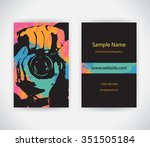 vector business card for... | Shutterstock .eps vector #351505184
