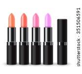 set of lipstick packaging  ... | Shutterstock .eps vector #351506591