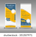 roll up banner abstract... | Shutterstock .eps vector #351507971