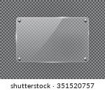 glass transparent plate. vector ...   Shutterstock .eps vector #351520757