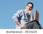 young businessman with his... | Shutterstock . vector #3515225
