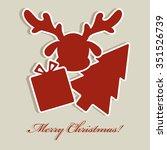 merry christmas  | Shutterstock .eps vector #351526739