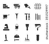 construction icons set.  | Shutterstock . vector #351529997