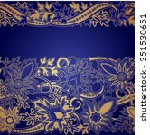 Gold Border With Paisley Ob...