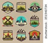 retro vector vintage camp label ... | Shutterstock .eps vector #351540734