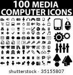 100 media   computer icons....