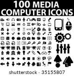 100 media   computer icons....