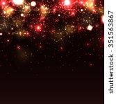 shiny sparkles on black...   Shutterstock .eps vector #351563867