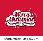 merry christmas text | Shutterstock .eps vector #351567974
