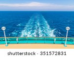 the stern of a ship with the... | Shutterstock . vector #351572831