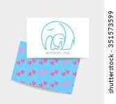 mom's love   logo design....   Shutterstock .eps vector #351573599
