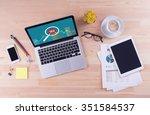 business desk concept   seo   Shutterstock . vector #351584537