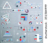 elements for graphics and... | Shutterstock .eps vector #351584999