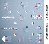elements for infographics ... | Shutterstock .eps vector #351585005