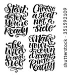 vector set of calligraphic text ... | Shutterstock .eps vector #351592109