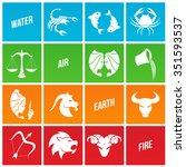 vector illustration of zodiac... | Shutterstock .eps vector #351593537