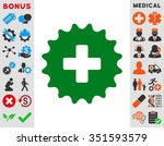 plus stamp vector icon. style...