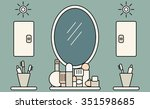 bathroom interior.vector...   Shutterstock .eps vector #351598685