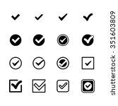 tick check mark icon set
