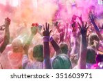 people covered with colored... | Shutterstock . vector #351603971