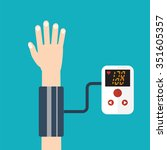 high blood pressure concept... | Shutterstock .eps vector #351605357