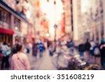 blurred background   dotonbori... | Shutterstock . vector #351608219