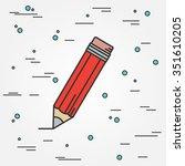 pencil icon. vector... | Shutterstock .eps vector #351610205