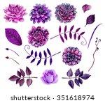 Watercolor Purple Flowers...