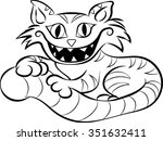 cheshire cat   clip art  ... | Shutterstock .eps vector #351632411