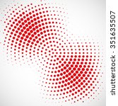 abstract dotted vector... | Shutterstock .eps vector #351635507