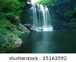 famous chunjeyun waterfall of... | Shutterstock . vector #35163592