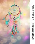 Dream Catcher And Abstract...