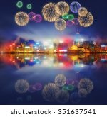Beautiful Fireworks Hong Kong Island - Fine Art prints