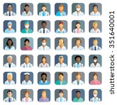 medical staff   set of icons... | Shutterstock .eps vector #351640001