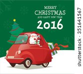 merry christmas and happy new... | Shutterstock .eps vector #351641567