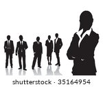 people in business | Shutterstock .eps vector #35164954