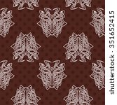 elegant difficult curled... | Shutterstock .eps vector #351652415