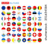 flat round flags of europe  ... | Shutterstock .eps vector #351654584