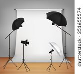 photo studio design concept set ... | Shutterstock .eps vector #351655574