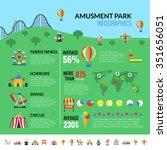 amusement park industry... | Shutterstock .eps vector #351656051