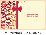horizontal template with red... | Shutterstock .eps vector #351658259