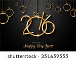 2016 happy new year and merry... | Shutterstock .eps vector #351659555