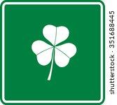 clover sign   Shutterstock .eps vector #351688445