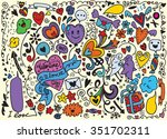 hand drawn vector illustration... | Shutterstock .eps vector #351702311